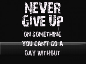 Never Give up G1 Wallpaper