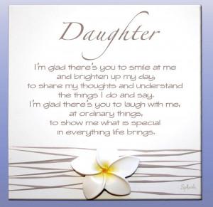 Daughter Sentimental Splosh Poem - Gorgeous Gifts