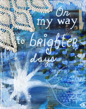 Mixed Media Quote Painting Inspirational Art by treetalker on Etsy