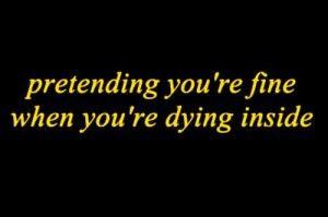 pretending everything is ok