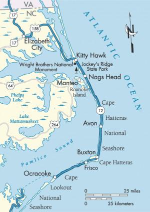 Map of North Carolina Coast NORTH CAROLINA Always a beautiful drive