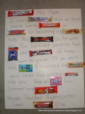 Creative Ideas For Teacher Appreciation Week May 7-11!!