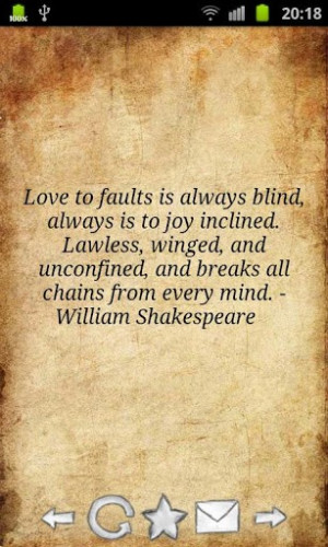 View bigger Shakespeare Quotes for Android screenshot