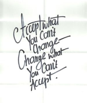 Do you accept things you cannot change or change things you cannot ...