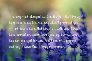 Happy wedding anniversary to my husband