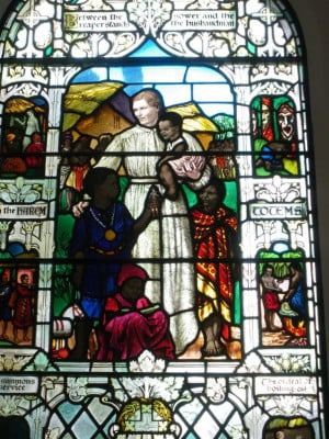 Section of window dedicated to Mary Slessor
