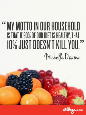 ... lifestyle of balance - and the quote from Michelle Obama on the right