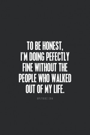 Perfectly Fine :)