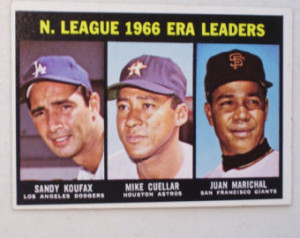 ... Card, 234 Topps 1967, Sandy Koufax, Mike Cuellar, Juan Marichal