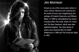 Crossover Appeal: Musicians Who Write Poetry - Jim Morrison