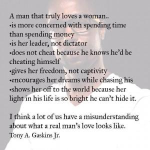 When a man truly loves a women