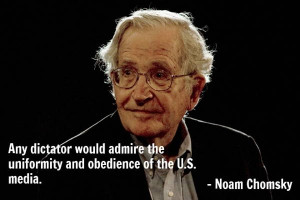 "Scholar Noam Chomsky told GRITtv this week that Obama is ""running ..."
