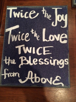 Twins quote. Canvas art.
