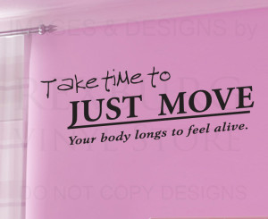 Wall-Quote-Decal-Sticker-Vinyl-Art-Lettering-Large-Move-and-Dance-Feel ...