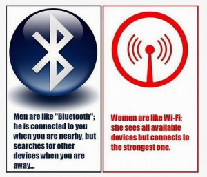 Men Are Like Bluetooth...