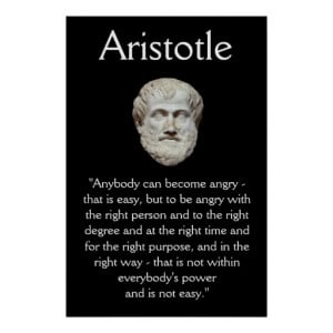 Aristotle - Anger Management Quote Poster