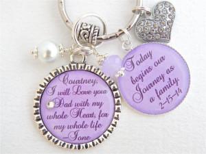 Step Daughter Gift Step Mother Purple Chram Necklace Wedding Keychain ...