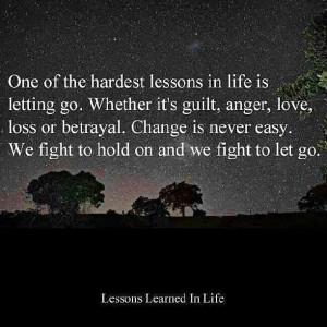 Tough lesson