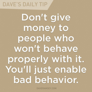 Enabling bad behavior hurts everyone involved.
