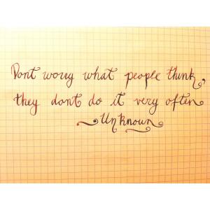 worry…