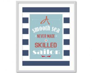 Nautical Boys Room, Nautical Quote, Inspirational Quote for Boys, Ship ...
