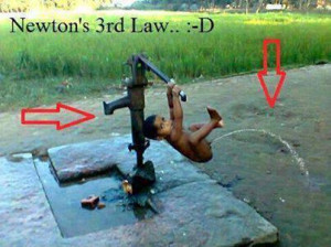 ... law funny creation funny playing baby pictures funny newton third law
