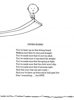 ... Quotes, Shel Silverstein Poems, Diving Swimming, Shelsilverstein