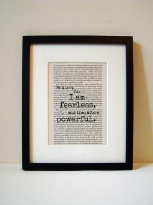 Frankenstein - Book Quote Print - Inspirational Quote - Birthday ...
