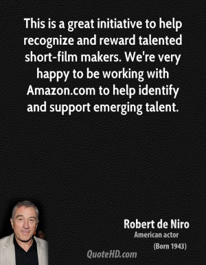 This is a great initiative to help recognize and reward talented short ...