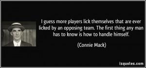 More Connie Mack Quotes