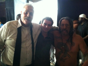 Gainey, Marc Donato and Danny Trejo On Set Of