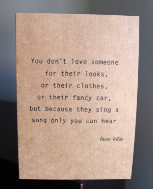 Oscar Wilde quote - Kraft card - Love card - Valentine