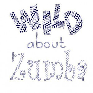 Wild About Zumba Zebra Striped Designladies Reneesrhinestones