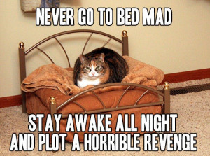 Never go to bed mad - Image