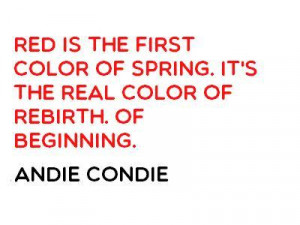 red color quotes caption red is the first color of