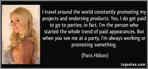 More Paris Hilton Quotes