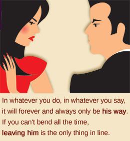 Controlling husband