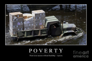 Poverty Inspirational Quote Photograph