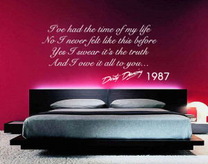 Dirty Dancing quote wall sticker quote decal