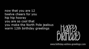 twelve year old birthday cards children