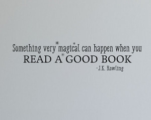 ... Read A Good Book JK Rowling Reading Library Vinyl Wall Quotes Decal