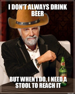 ... Dos Equis - I DONT ALWAYS DRINK BEER BUT WHEN I DO, I NEED A