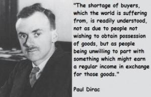 Paul Dirac's quote