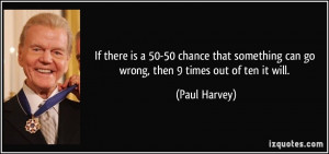 If there is a 50-50 chance that something can go wrong, then 9 times ...