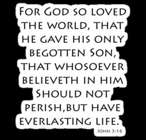 aforceofnature › Portfolio › John 3:16 - King James (Bible Verses)