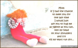 Missing You Mom Quotes Missing you quote for mom