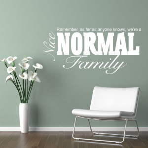 nice normal family quote wall stickers wall decals