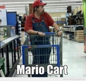 Funny Picture - Mario Cart at walmart