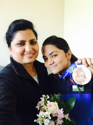 ISSF World Cup bronze medal courtesy Gagan Narang Twitter account