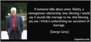 monogamous relationship, love, blessing; I would say it sounds like ...
